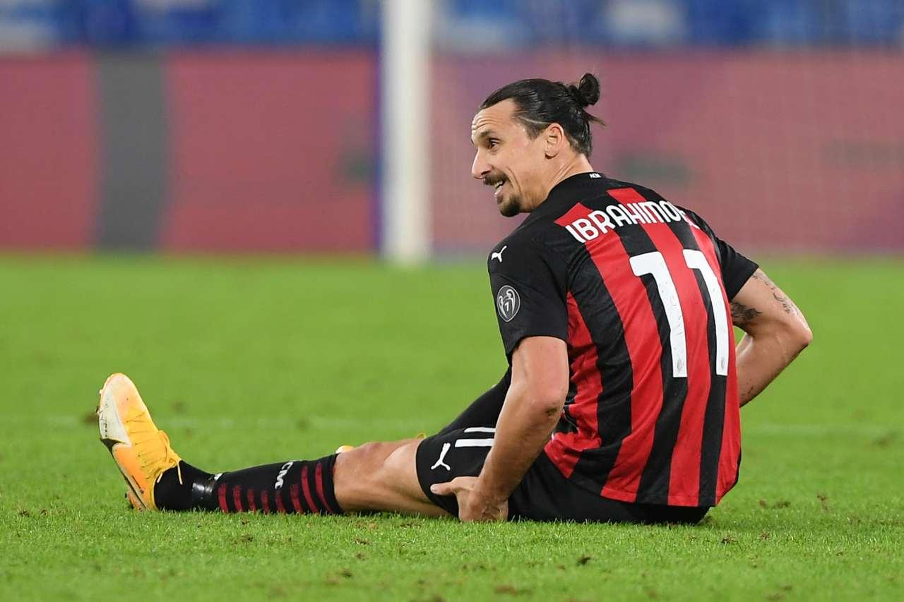 Infortunio Ibrahimovic notizie Milan