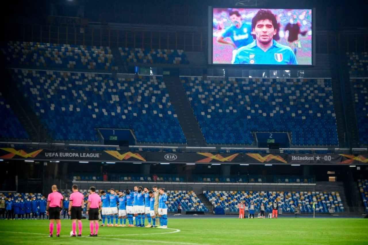 minuto silenzio Maradona