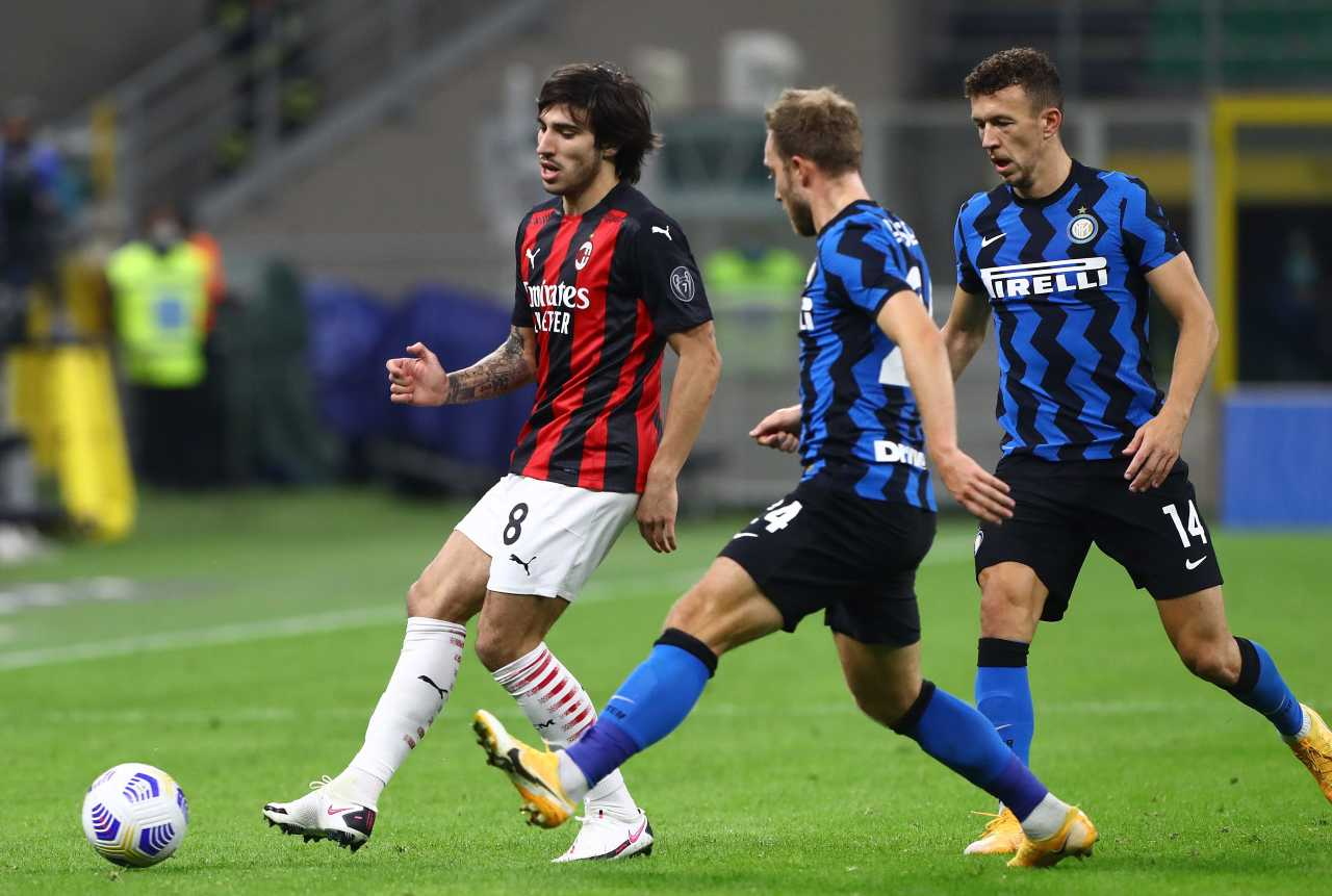 Calciomercato Milan e Inter, scambio Eriksen Calhanoglu