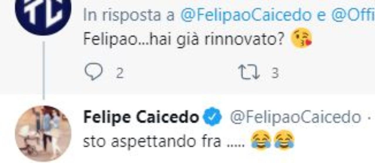 Felipe Caicedo rinnovo