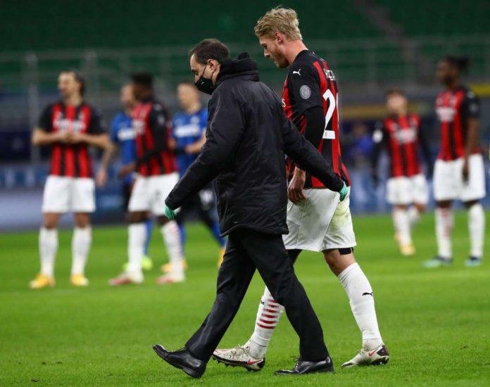 Milan infortunio Kjaer