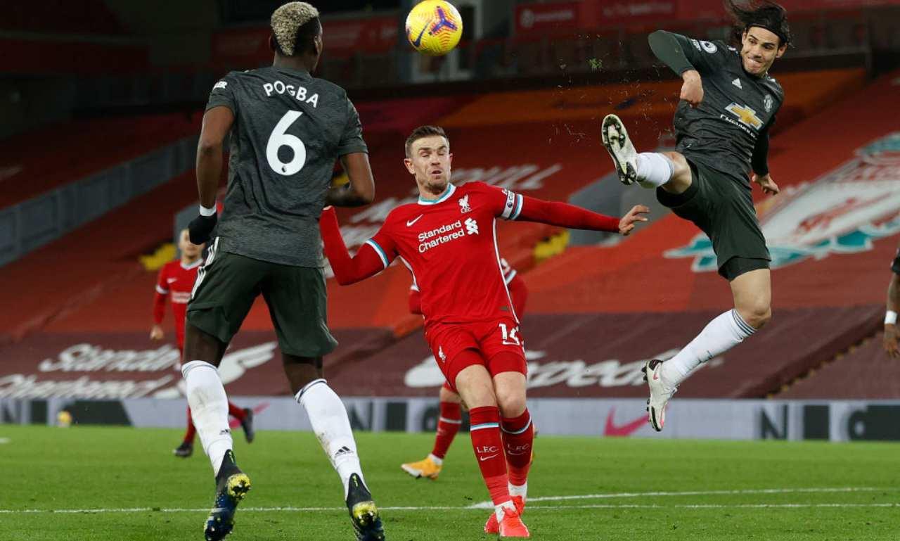 pogba e cavani Manchester United