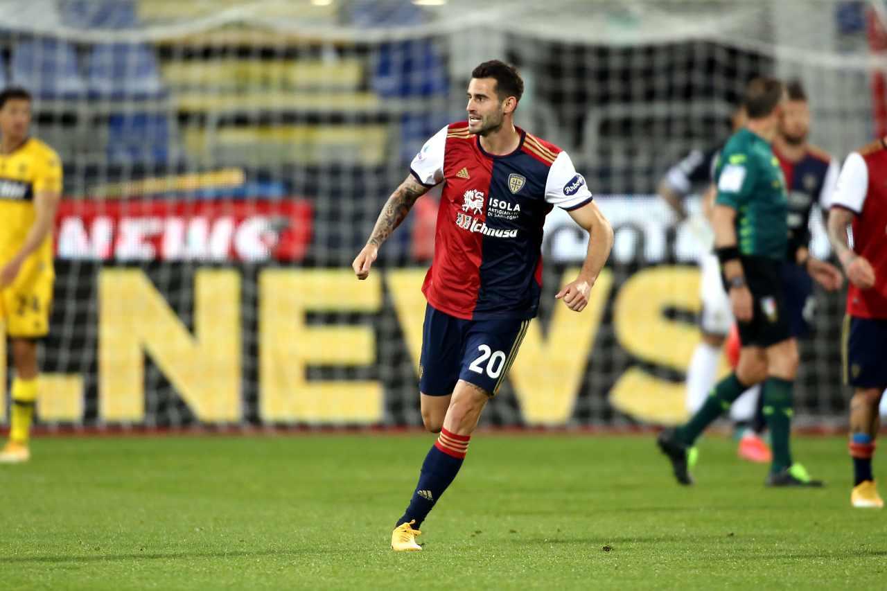 Cagliari Gaston Pereiro Covid