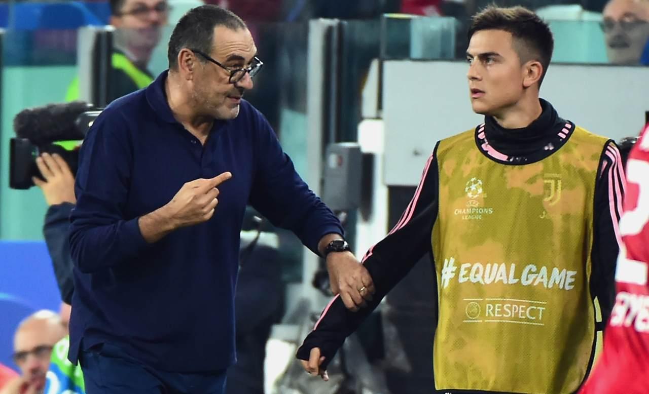 Calciomercato Juventus Sarri Dybala